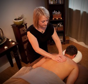 Patti massaging client